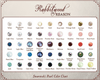 PEARL COLOR CHART: Please choose your preferred color from the pearl color chart and locate it in the 'pearl or crystal bead' drop-down box in this product listing.