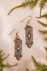 Fontaine Earrings - White Opal - Antiqued Brass - Rabbitwood & Reason