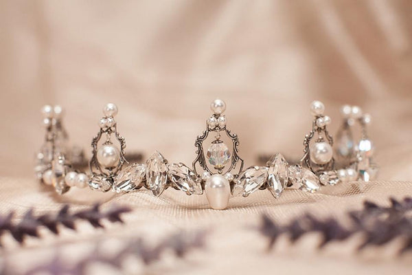 Camelot Tiara - Antiqued Silver - Rabbitwood & Reason
