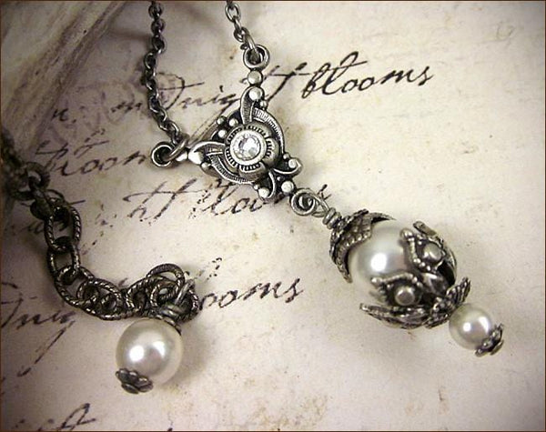 Rhiannon Pendant Necklace - Antiqued Silver