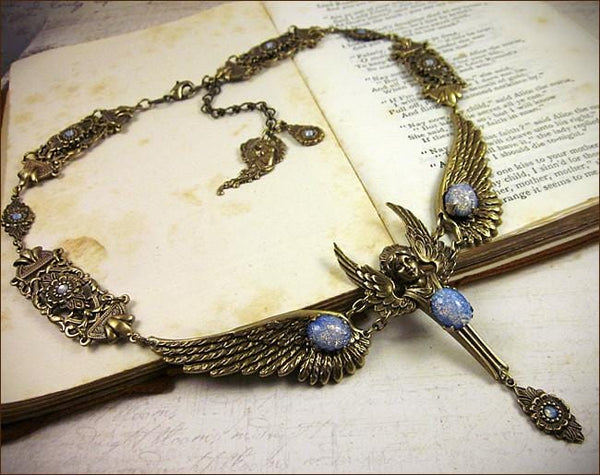 Valkyrie Necklace - Antiqued Brass