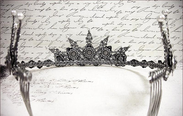 Avalon Tiara - Antiqued Silver - Rabbitwood & Reason