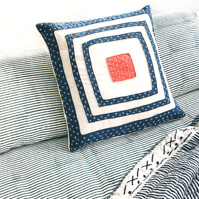 Proud Mary for Tilonia® Appliqué Pillow Cover - Blue