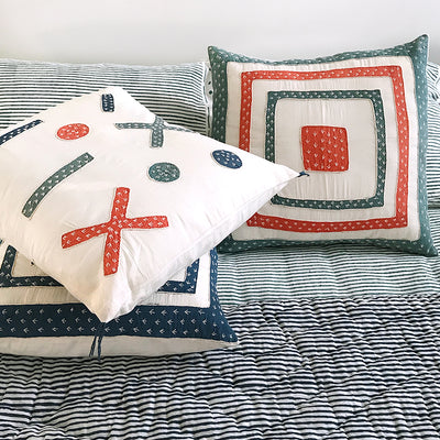 Proud Mary for Tilonia® Appliqué Pillow Cover - Teal