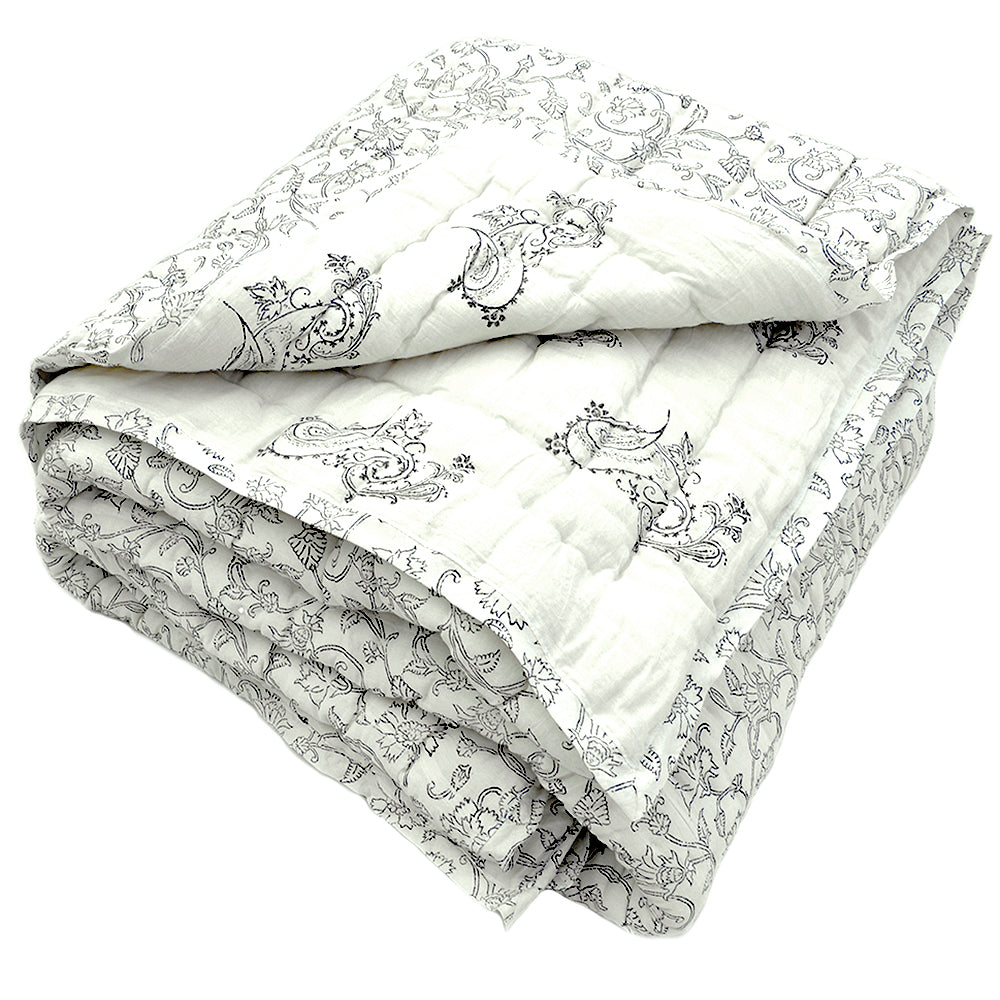 Tilonia® Twin Quilt - Fancy Paisley in Black