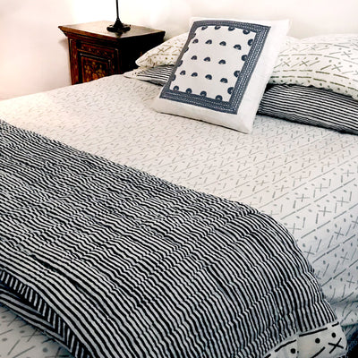Proud Mary for Tilonia® Queen Duvet Set in Criss Cross in Dove Grey