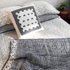 Proud Mary for Tilonia® King Quilt in Stripes in Navy Blue