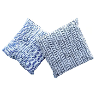 Tilonia® by DH Studio Pleated Decorative Pillow Cover in Centipede Stripe in Blueberry