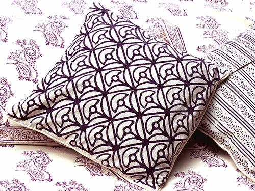Tilonia® Decorative Pillow Cover - Mod Mum in Plum
