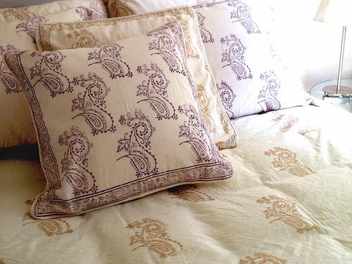 Tilonia® Twin Duvet Set - Fancy Paisley in Plum