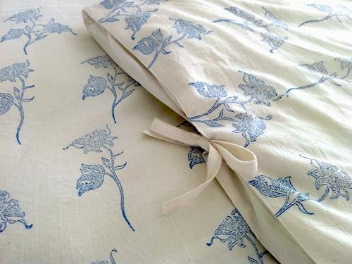 Tilonia® Queen Duvet Set - Fancy Floral in Blue