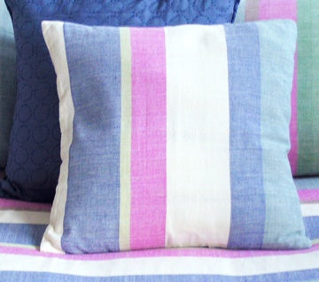 Tilonia® Decorative Pillow Cover Set of 2 - Multicolor Stripe Barefoot Handloom