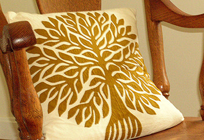 Barmer Appliqué Pillow - Tree of Life