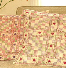 Tilonia® Embroidered Pillow - Cross Stitch