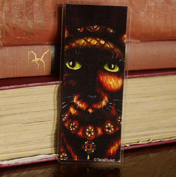 Anne of Cleves cat art bookmark