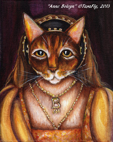 Anne Boleyn Abyssinian Cat Art