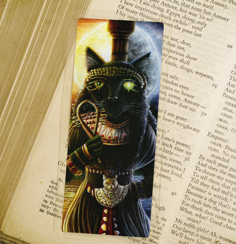 Bastet Bast Egyptian cat goddess bookmark
