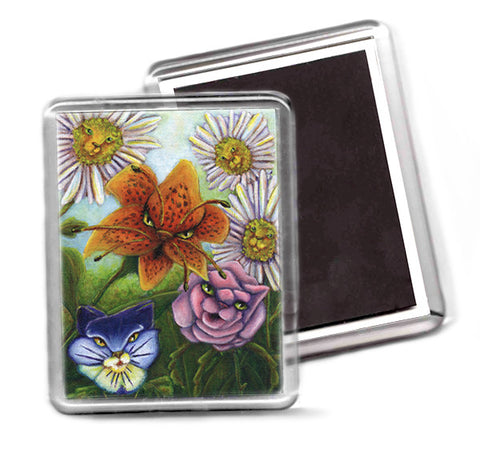 Catty Flowers Alice in Wonderland magnet
