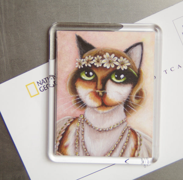 Daisy Buchanan Great Gatsby Cat Art Magnet