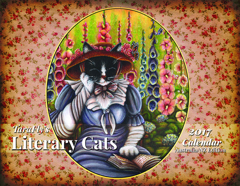 2017 Literary Cats Calendar by cat artist TaraFly