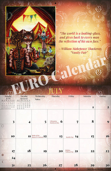 2017 Literary Cats Calendar July European Edition