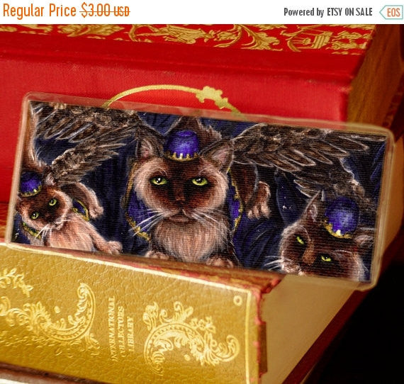ON SALE Flying Monkey Cats Bookmark Wizard of Oz Inspired Cat Bookmark