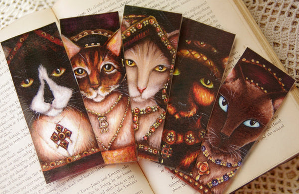 Tudor Cats Collection art bookmarks by TaraFly