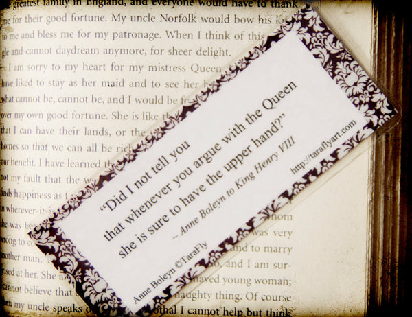 Anne Boleyn bookmark by Tara Fly
