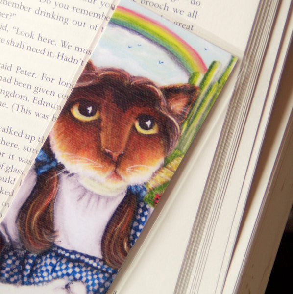 ON SALE Dorothy Cat Bookmark Calico Cat Wizard of Oz Inspired Cat Bookmark