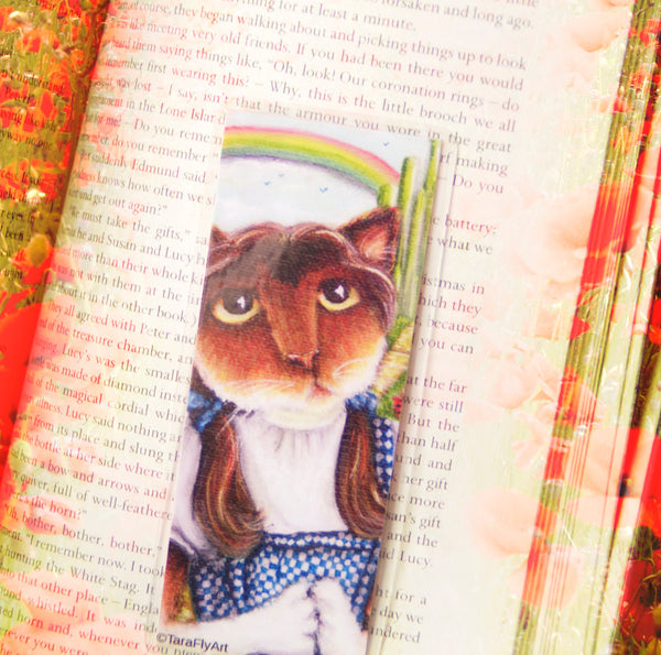 ON SALE Cowardly Lion Bookmark Wizard of Oz Inspired Cat Bookmark