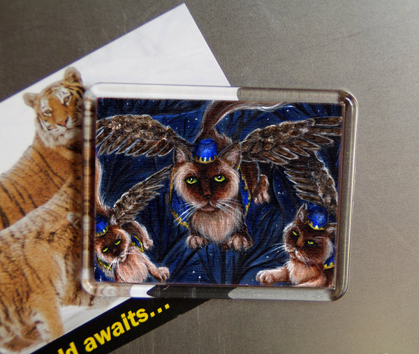 ON SALE Flying Monkey Cats, Wizard of Oz, Cats With Wings, Fridge Magnet