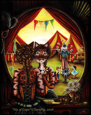 Circus Cats Six of Cups fine art print