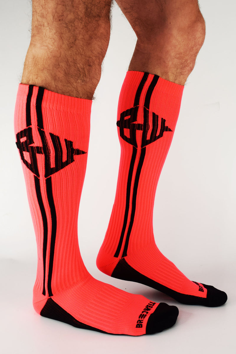 BLACKLIGHT ICON SOCKS - NEON ORANGE
