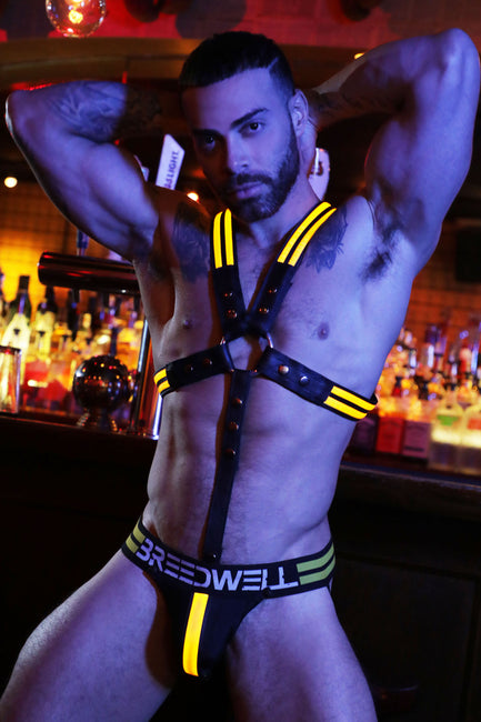 YELLOW GLOW CROSS HARNESS