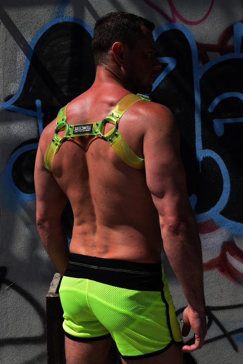 BLACKLIGHT CYBER HARNESS - NEON GREEN