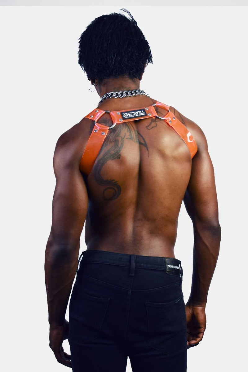 BLACKLIGHT CYBER HARNESS - NEON ORANGE