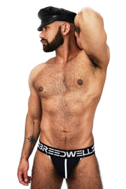 BLACK STRIPES JOCKSTRAP