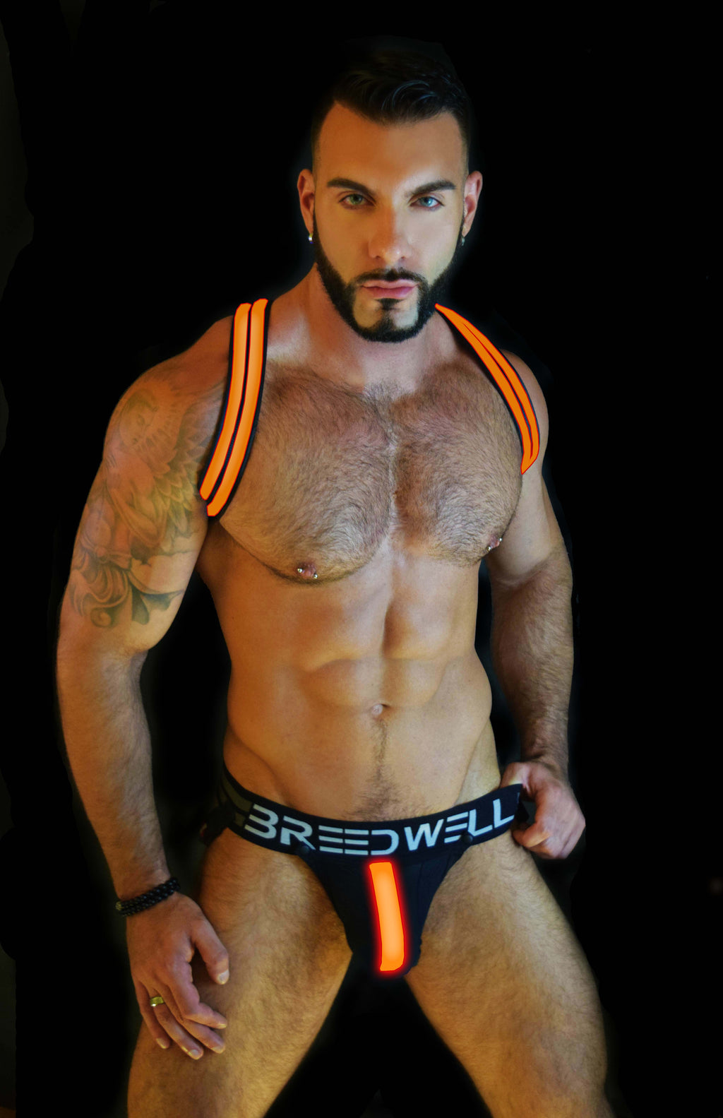 ORANGE GLOW LEGSTRAP  JOCK SYSTEM