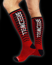 "HAZARD ""DIRTY"" SOCKS - RED"