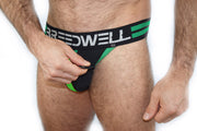 GREEN STRIPES JOCKSTRAP