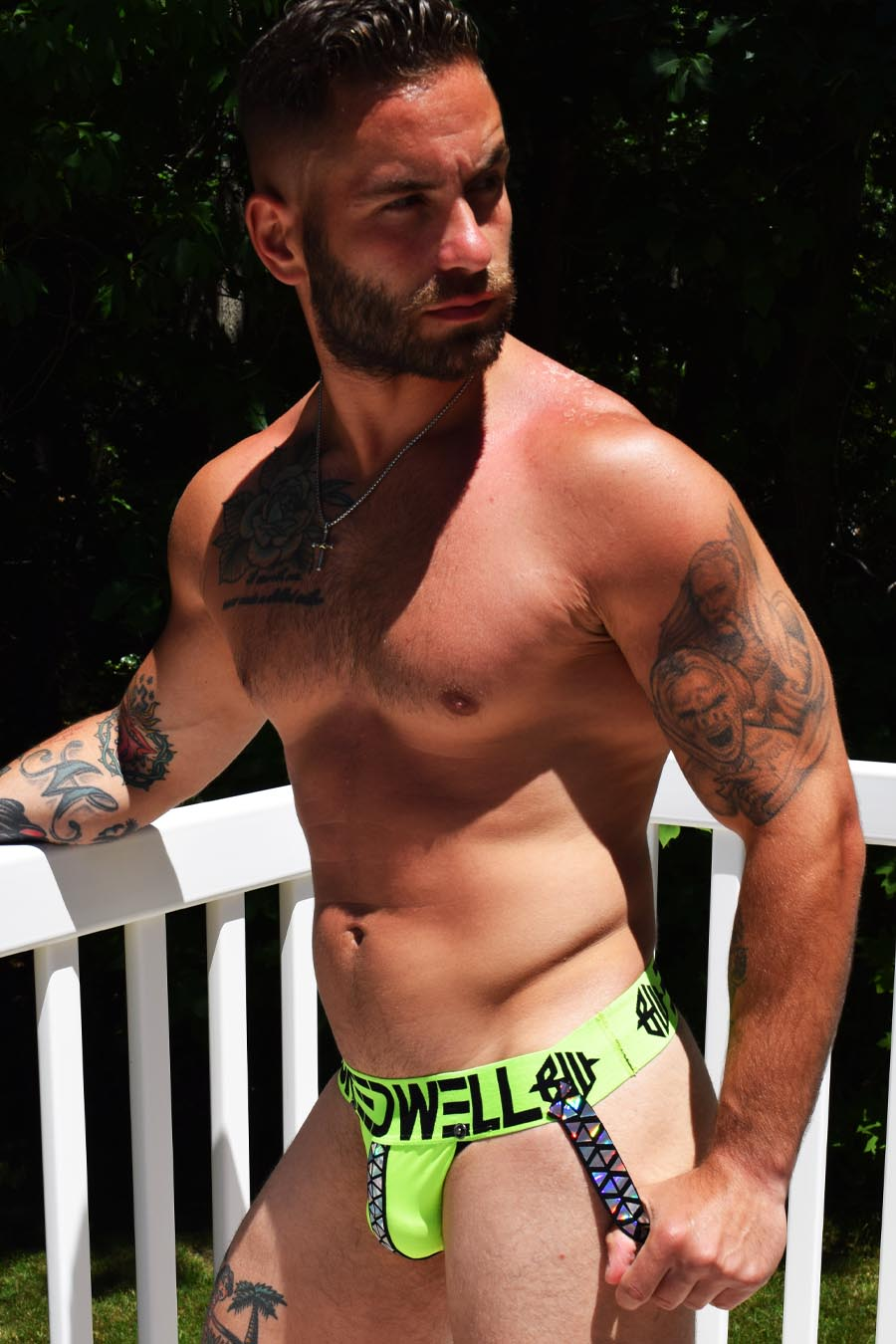 PRISM BLACKLIGHT JOCK - NEON GREEN