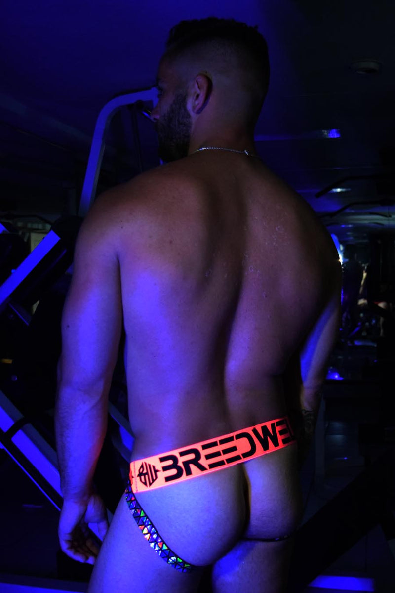 PRISM BLACKLIGHT JOCK - NEON ORANGE