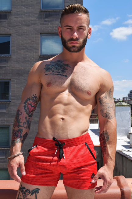 CRUISER SHORTS - RED