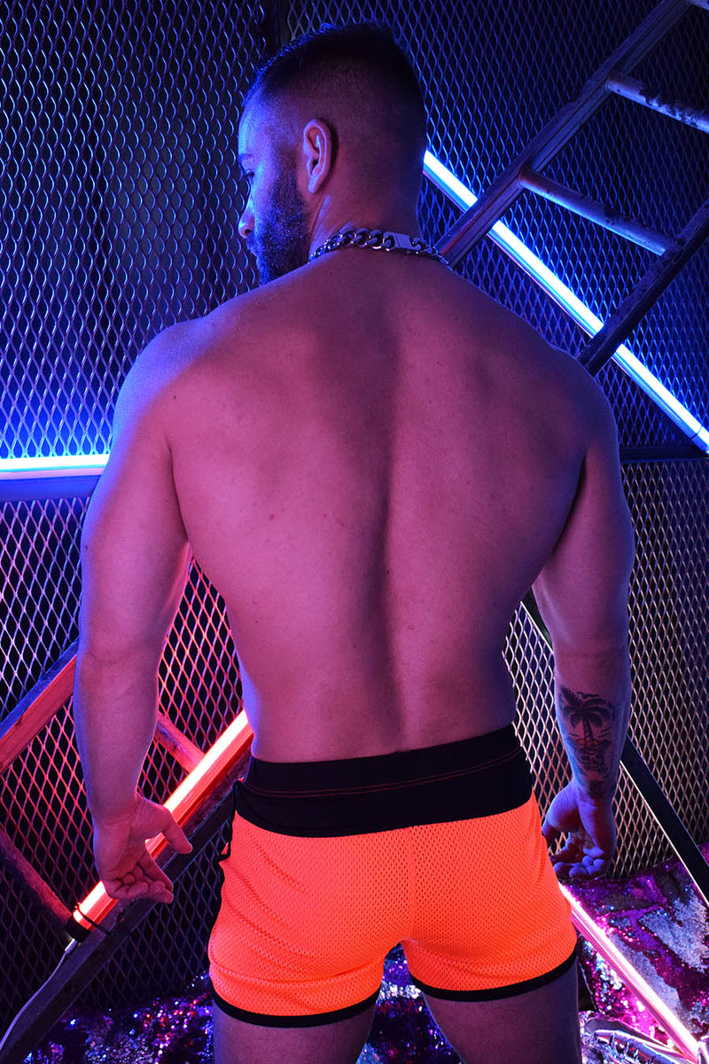 REMIX CIRCUIT SHORTS - NEON ORANGE