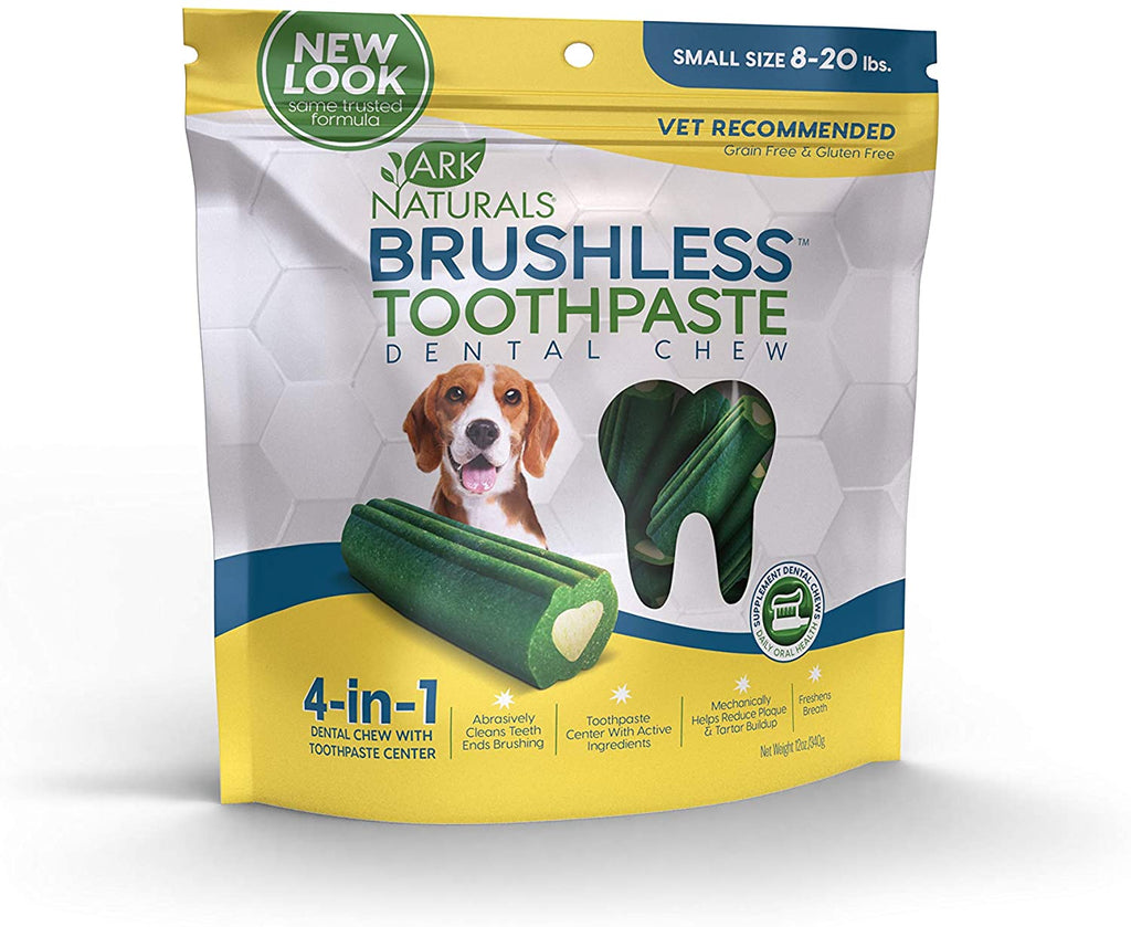 Ark Naturals Brushless Toothpaste Dental Chews - Small