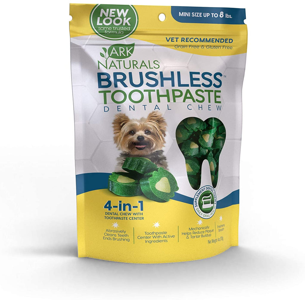 Ark Naturals Brushless Toothpaste Dental Chews - Mini