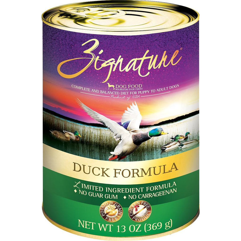 Zignature Duck Limited Ingredient Formula Grain-Free Canned Dog Food, 13-oz, case of 12