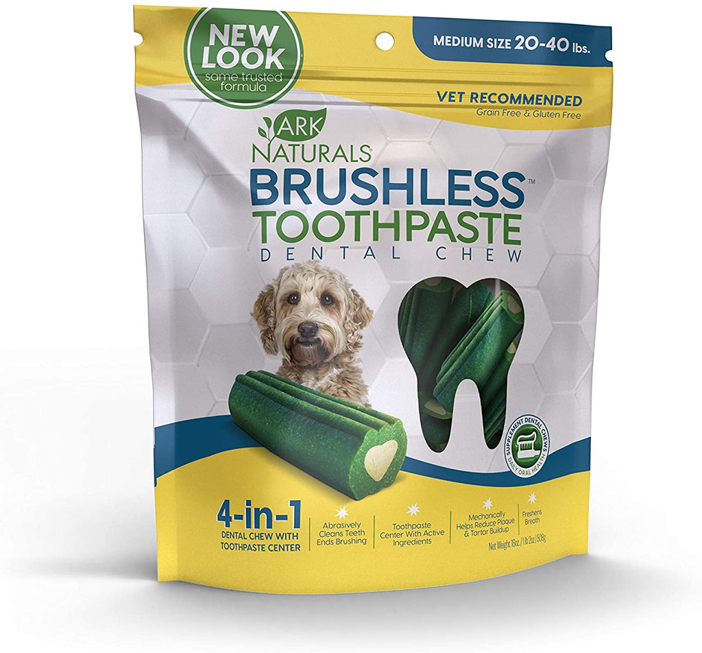 Ark Naturals Brushless Toothpaste Dental Chews - Medium