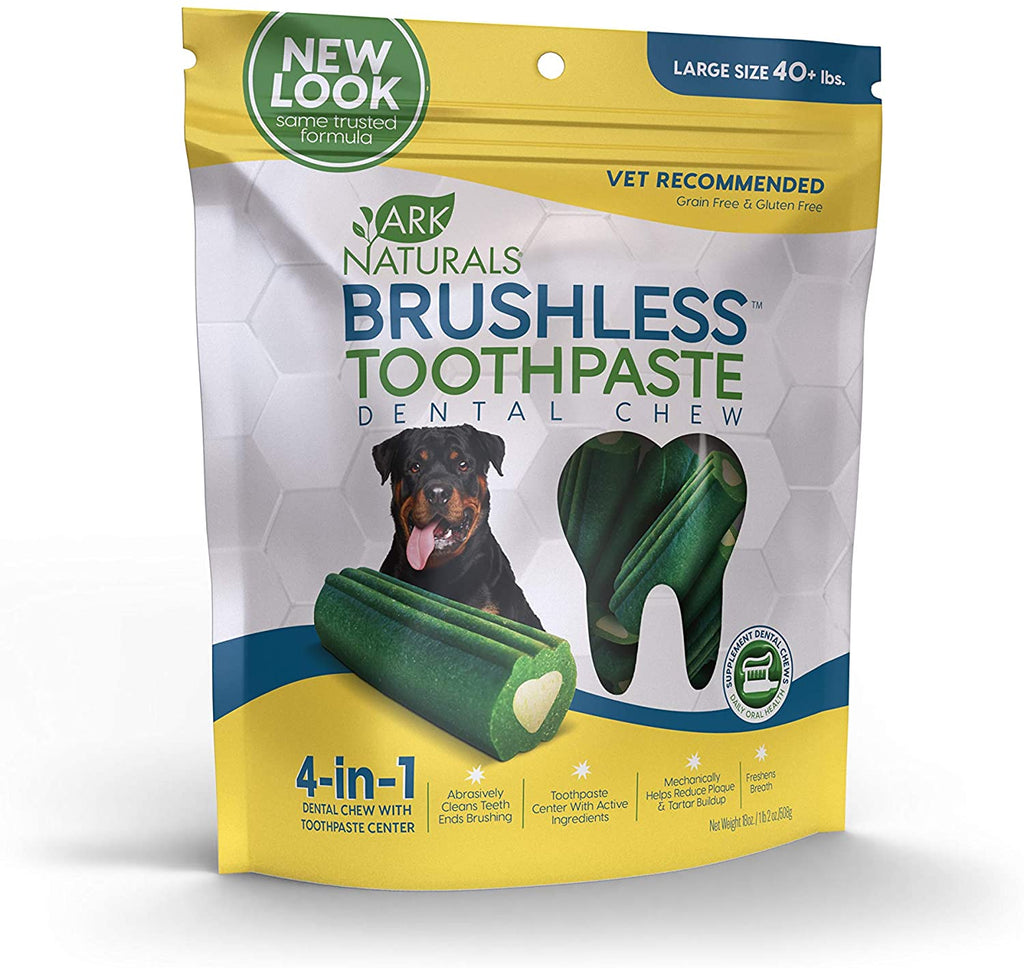 Ark Naturals Brushless Toothpaste Dental Chews - Large