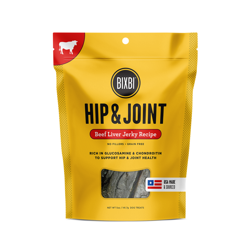 Bixbi Hip & Joint Jerky Treats 5 oz. - Beef